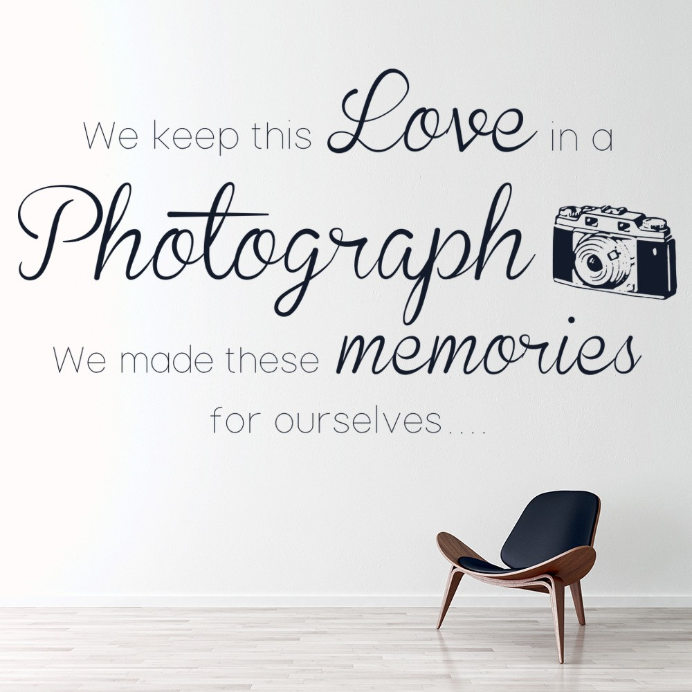 Love In A Photograph Ed Sheeran X Song Lyrics Wall Stickers Music Art Decals
