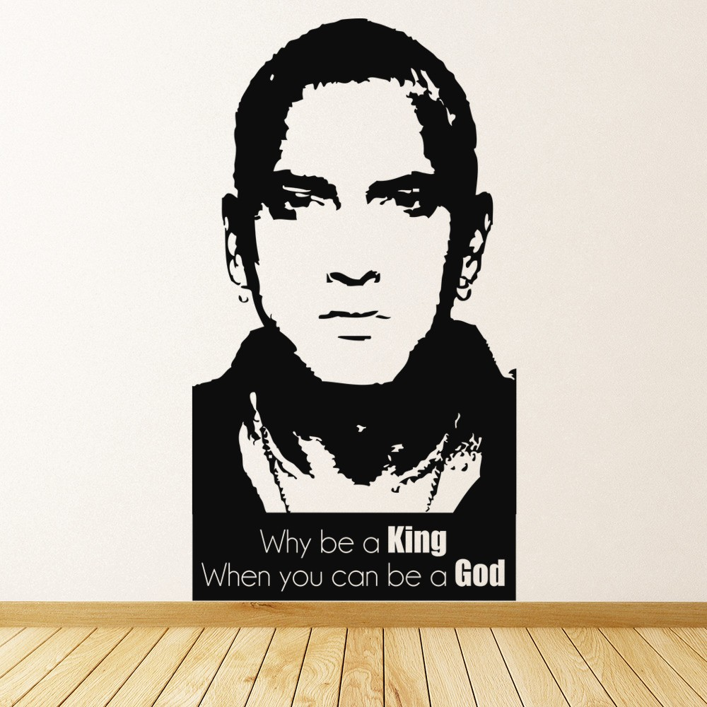 Eminem Wall Sticker Be A God Marshall Mathers Wall Decal