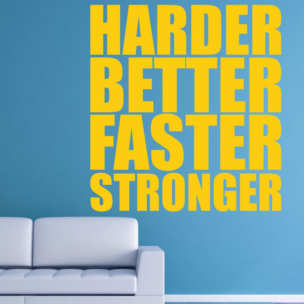 Harder Faster Stronger Wall Sticker Kanye West Wall Decal Song ...