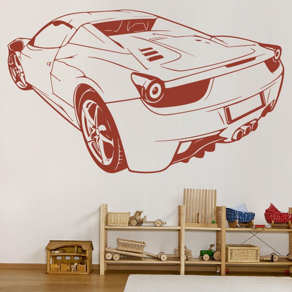 Transport Ferrari: Ferrari Car Back Sport Transport Wall Sticker