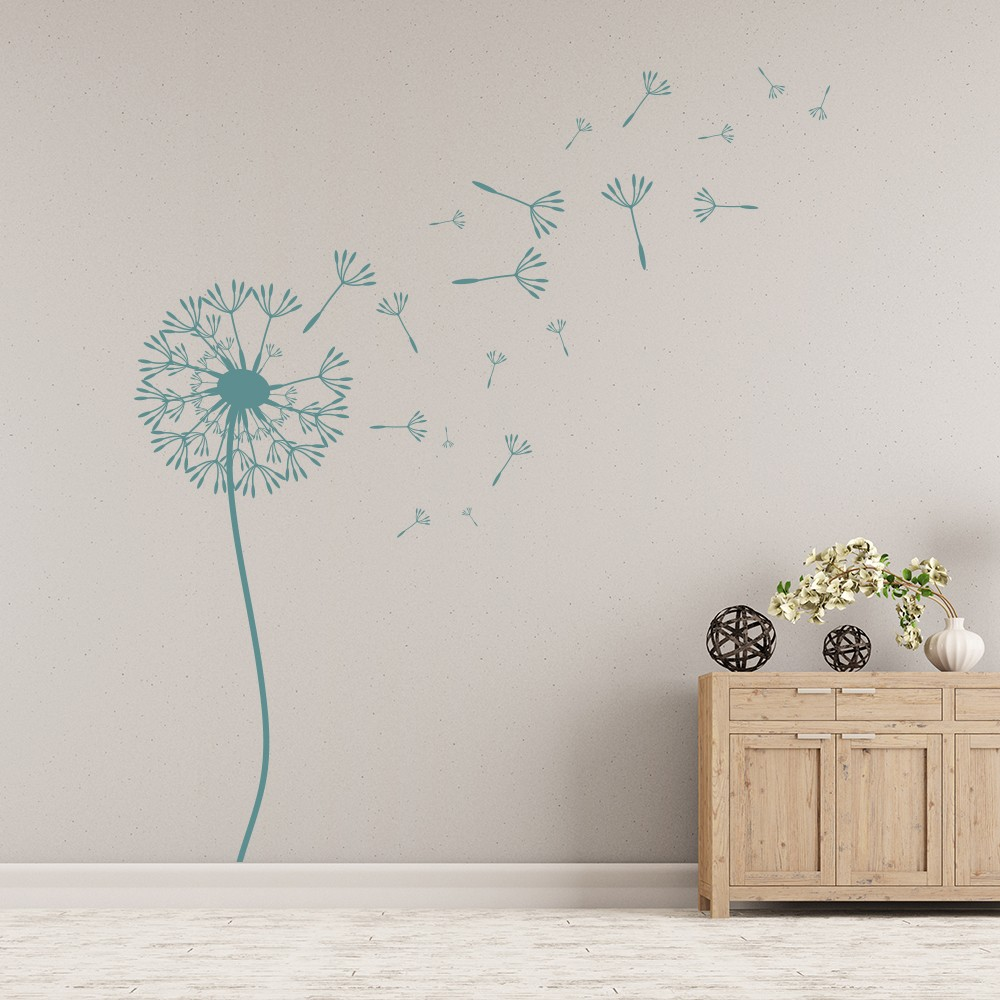 Dandelion Wall Sticker Floral Flower Wall Decal Nursery Bedroom Home Decor