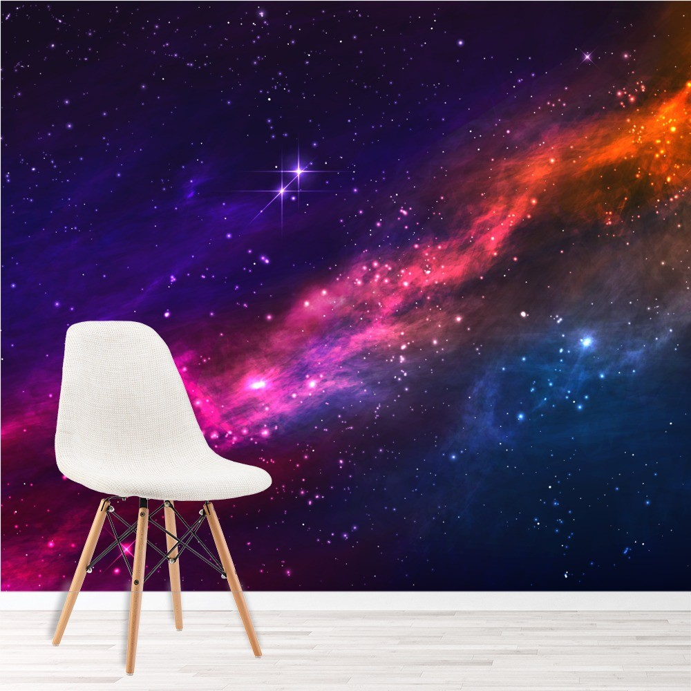 Cosmic Space Galaxy Wall Mural Wallpaper