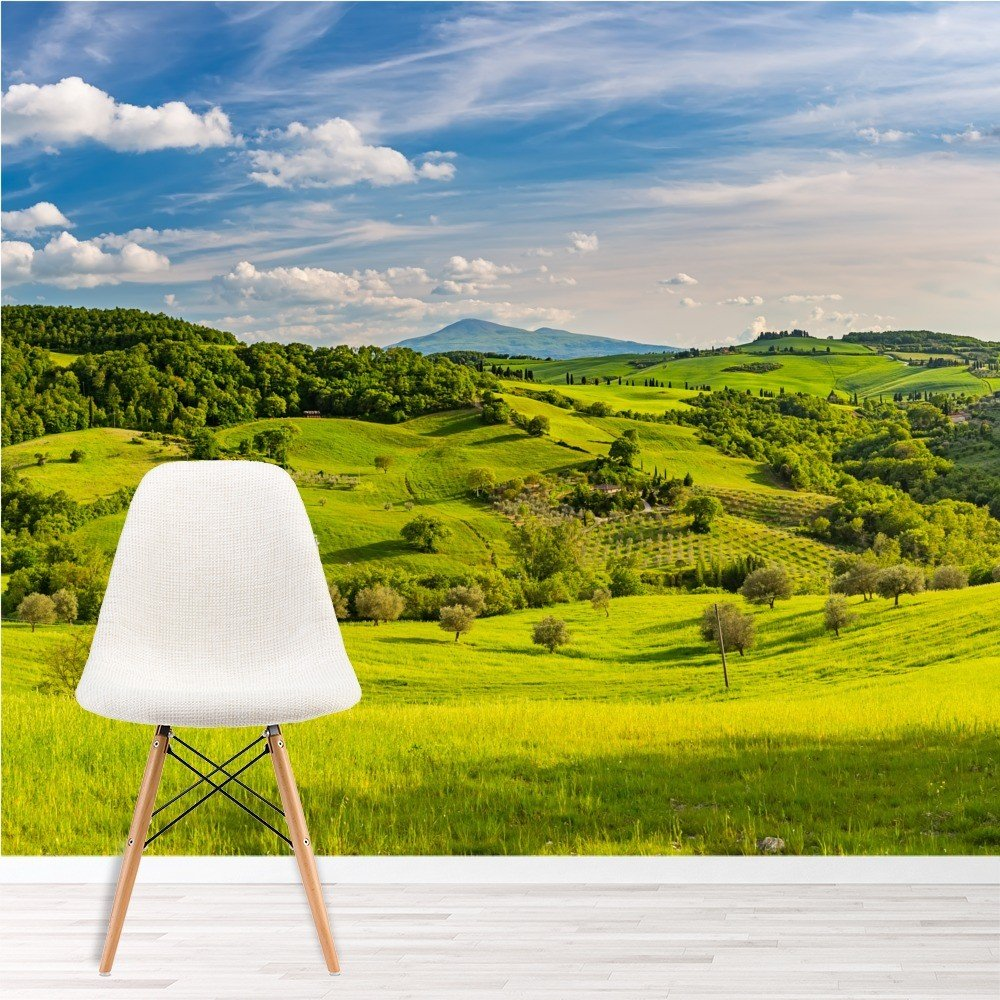 Tuscan Countryside Landscape Wall Mural Wallpaper