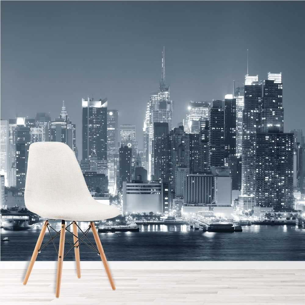Skyscrapers New York Wall Mural Black U0026 White Photo Wallpaper Living Room  Decor