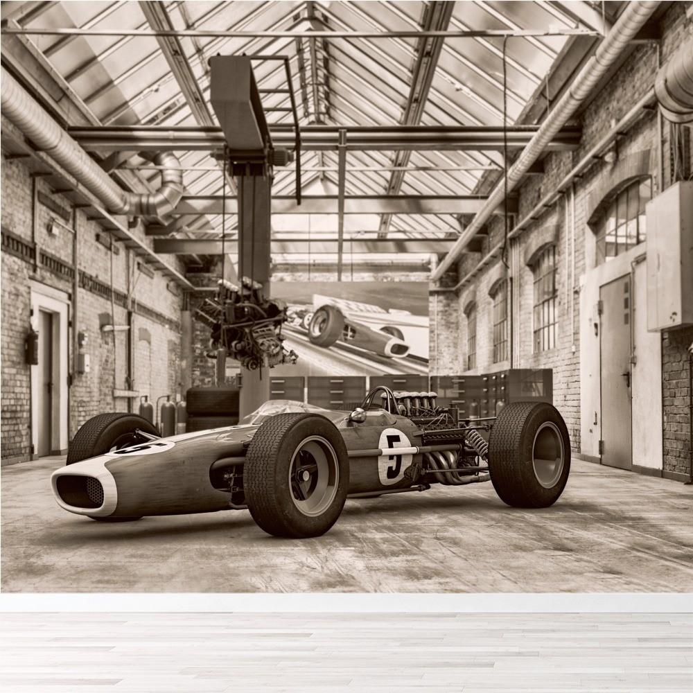 Classic Formula 1 Race Car Wall Mural Wallpaper WS-42476