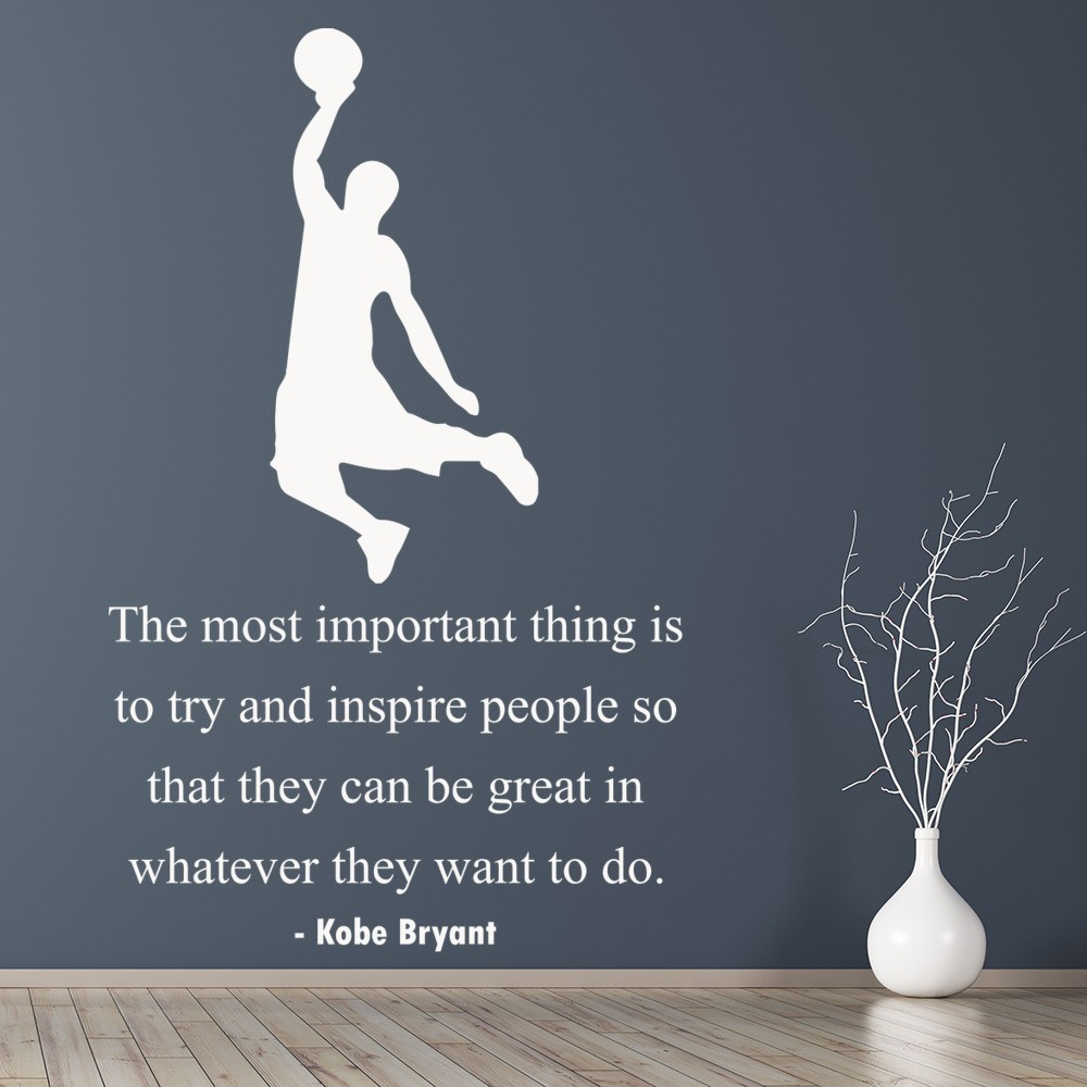 Kobe Bryant Inspire Wall Sticker Basketball Quote Wall