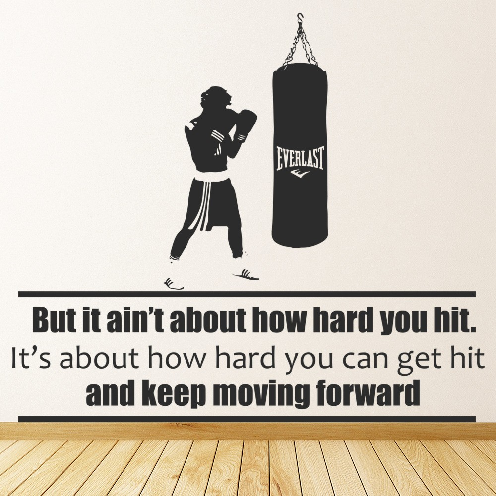 How Hard You Can Hit Wall Sticker Rocky Boxing Quote Wall