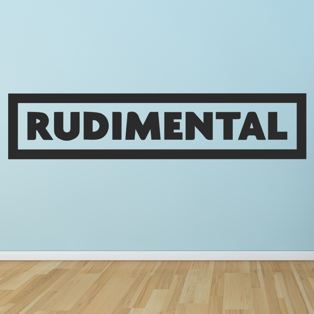 Rudimental Wall Sticker Musicians & Band Logos Wall Decal Music Home ...