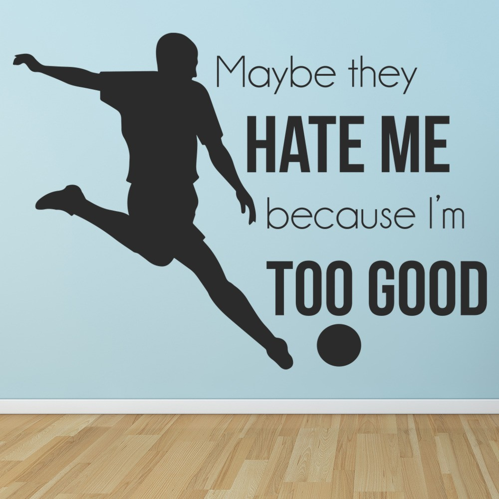 Too Good Football Wall Sticker Sports Quote Wall Decal Boys Bedroom Home Decor