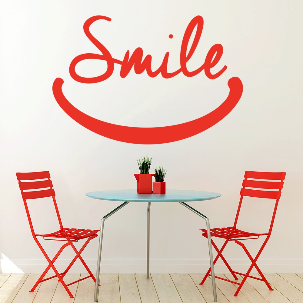 Smile Wall Sticker Inspirational Quotes Wall Decal School ...
