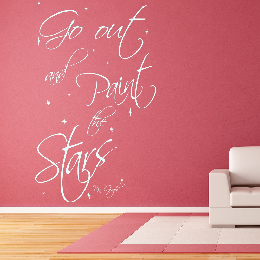 Paint The Stars Wall Sticker Van Gogh Inspirational Quote