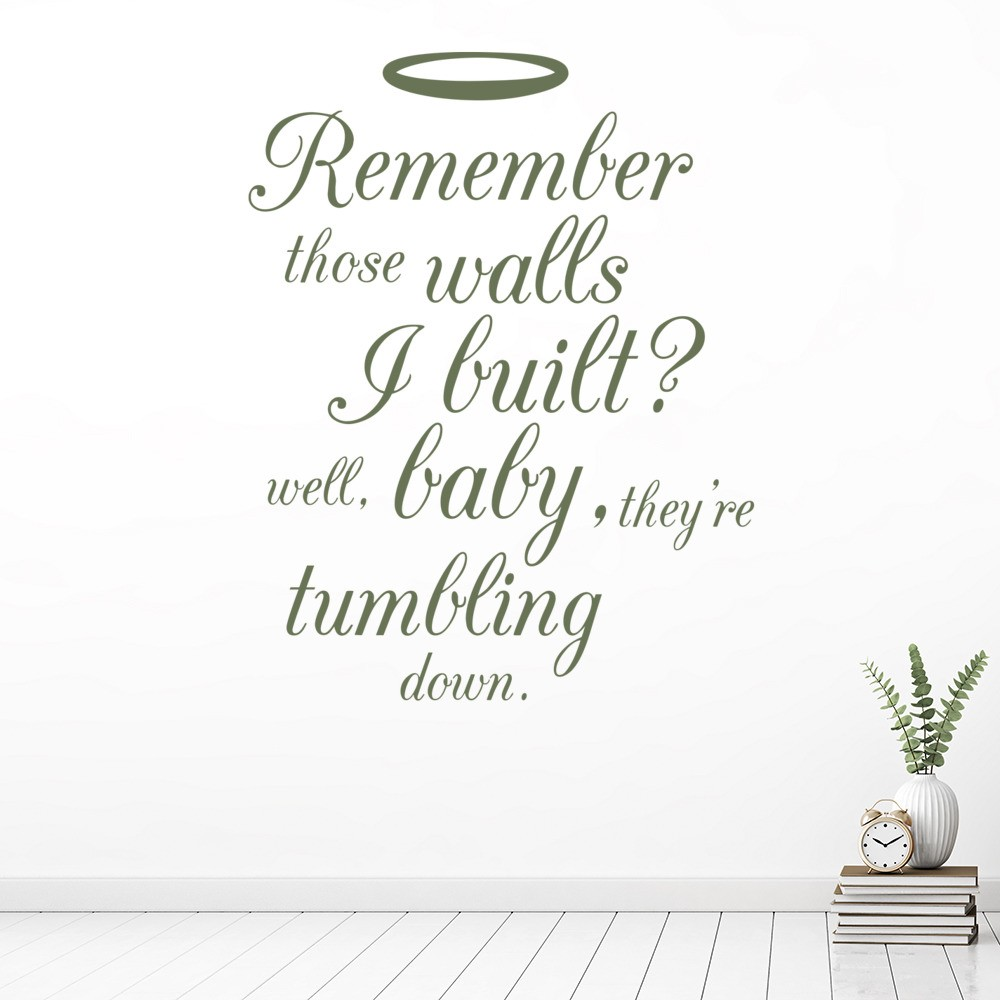 Remember Those Walls Halo Wall Sticker Beyonce Song Lyric Wall Decal ...