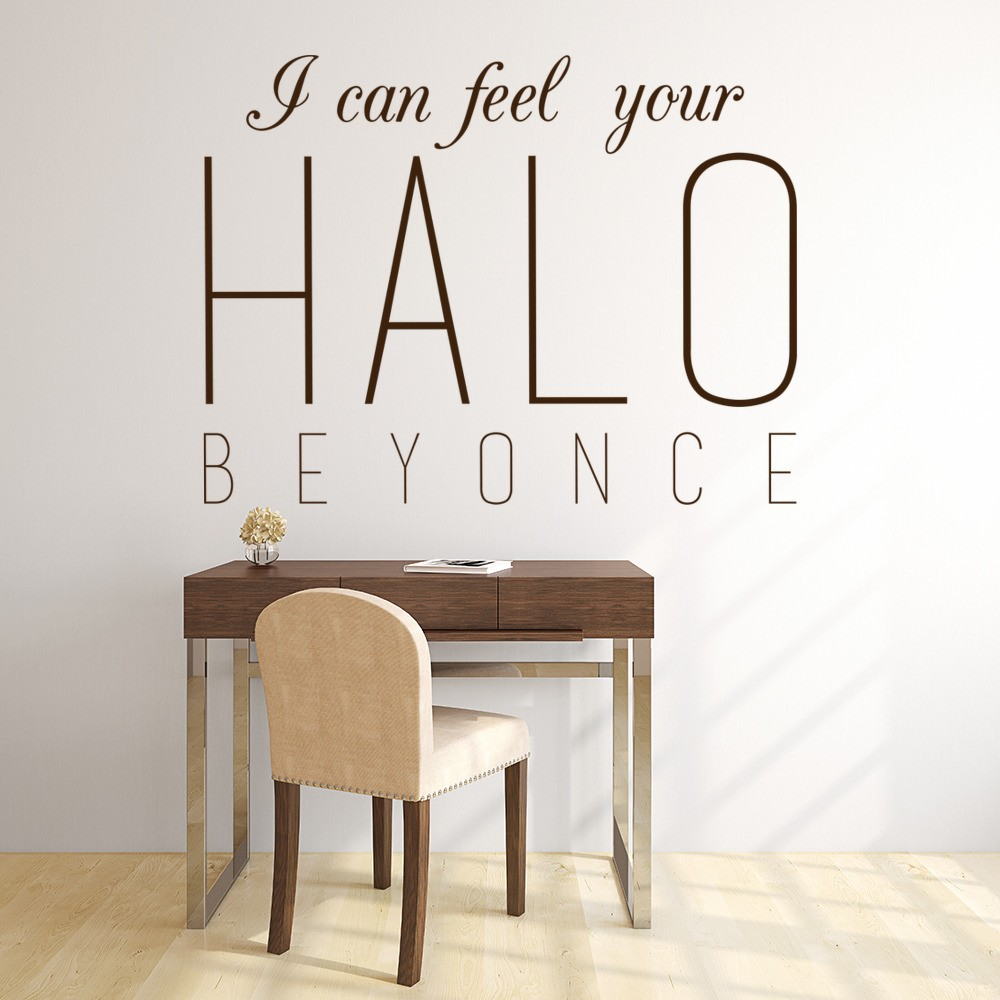 I Can Feel Your Halo Wall Sticker Beyonce Song Lyrics Wall Decal