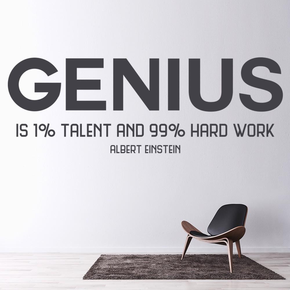 Genius Wall Sticker Albert Einstein Quote Wall Decal