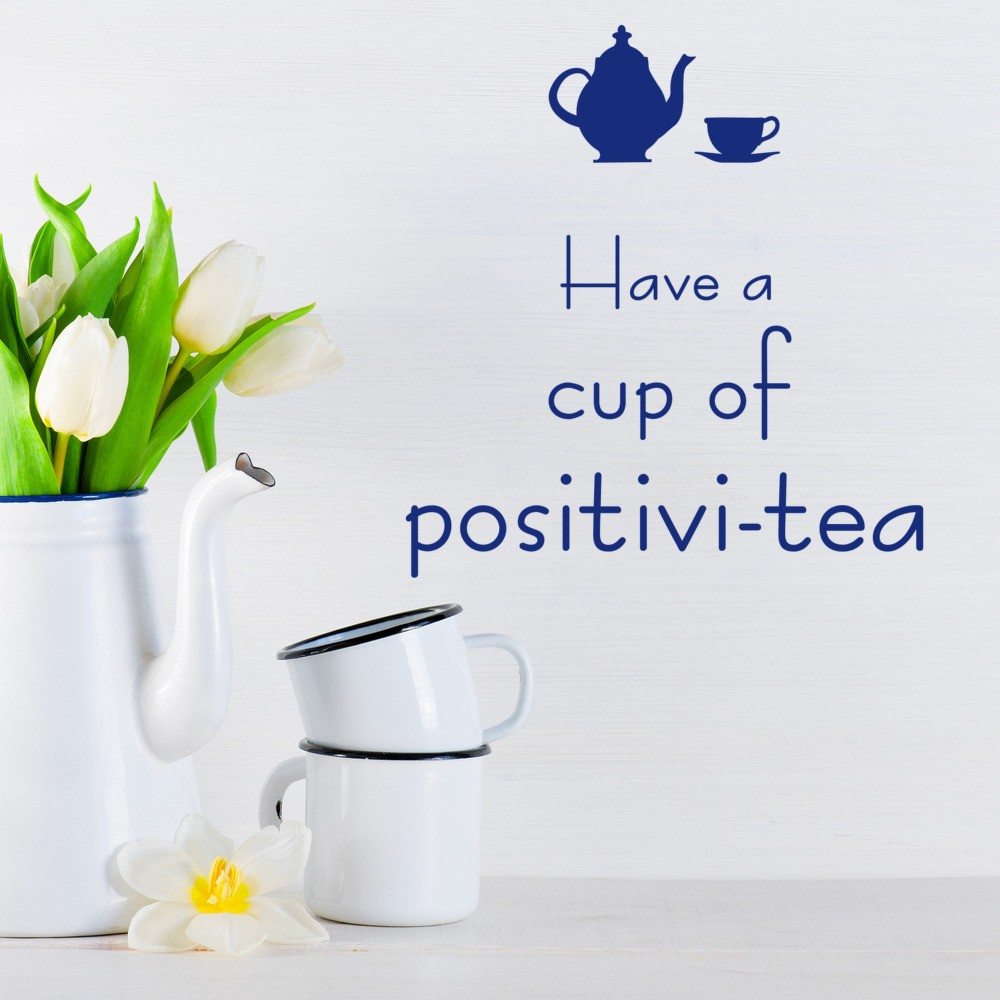 Cup Of Tea Wall Sticker Kitchen Quotes Wall Decal