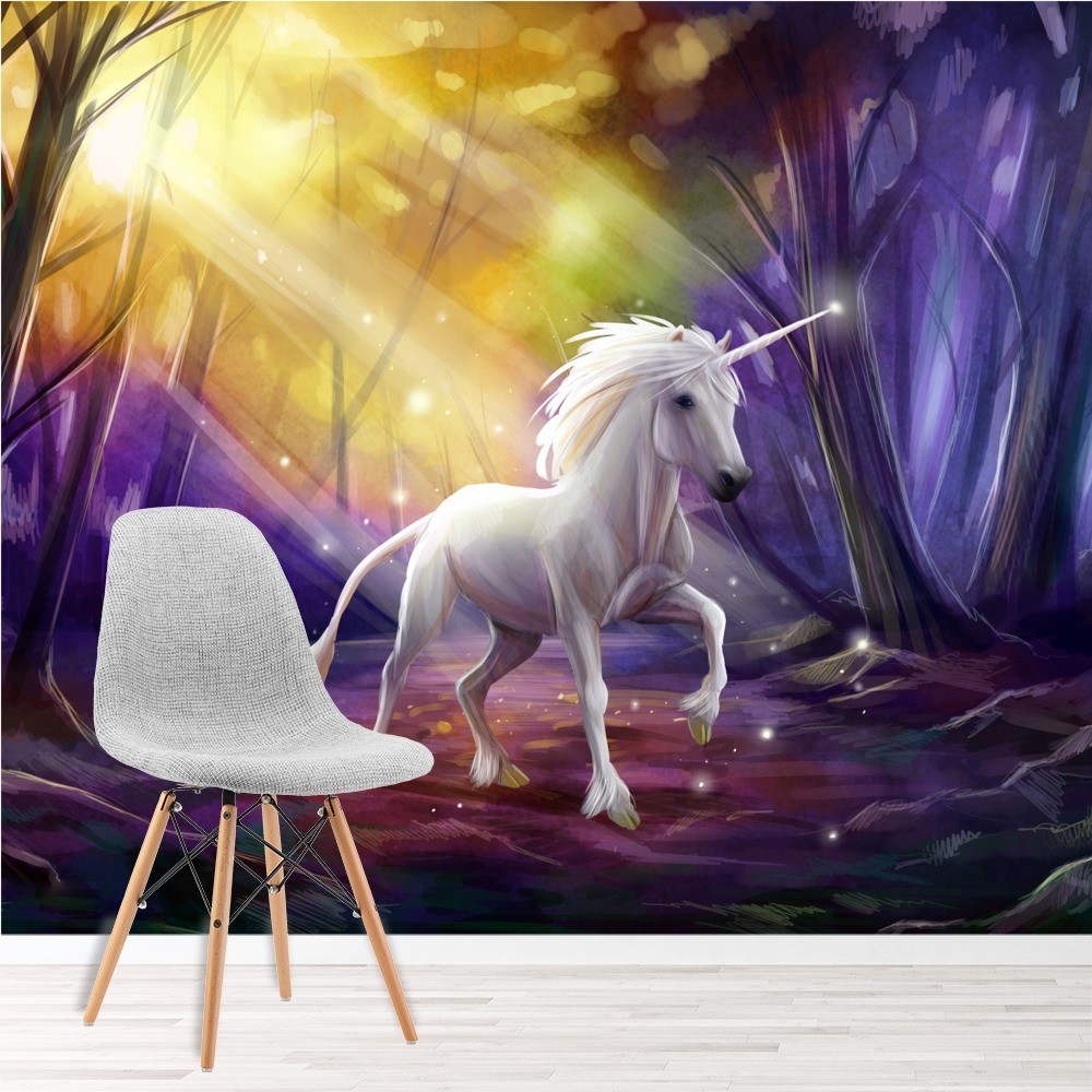 Enchanted Forest Unicorn Wall Mural Wallpaper