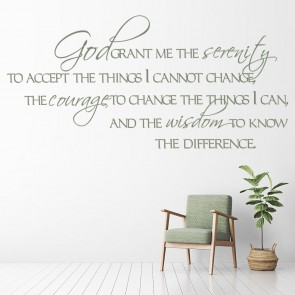God Grant Me The Serenity Wall Sticker Bible Verse Decal Religion Decor