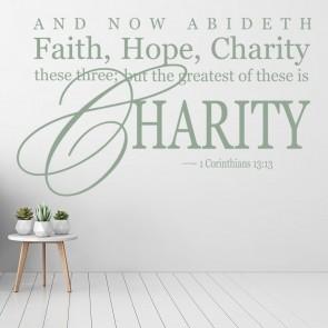 Faith Hope Charity Bible Verse Wall Sticker