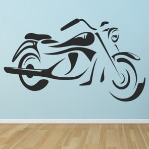 motorcycle cartoon motorbike wall stickers motor sport decor art decals - Wall Designs Stickers