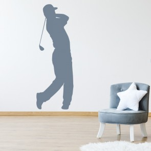 Golfer Swing Wall Sticker Golf Wall Decal Sports Bedroom Home Decor