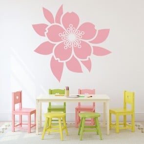 Centrepiece Flower Wall Sticker Headboard Wall Decal Girls Bedroom Home  Decor