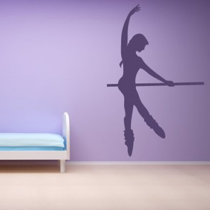 Ballerina Dance Wall Sticker Ballet Pole Decal Girls Bedroom Gym Home Decor
