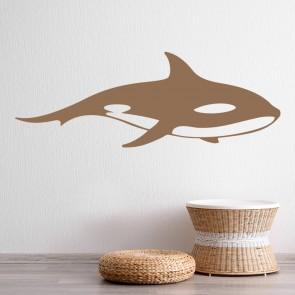 Killer Whale Sea Life Under The Sea Wall Stickers Bathroom Decor Art Decals Design