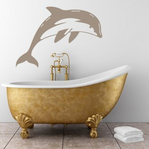 Dolphin Diving Swimming Under The Sea Wall Stickers Bathroom Decor Art  Decals
