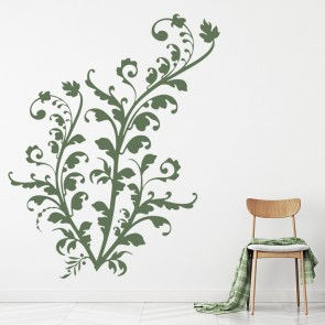Leafy Green Floral Embellishment Wall Stickers Wall Art Decal