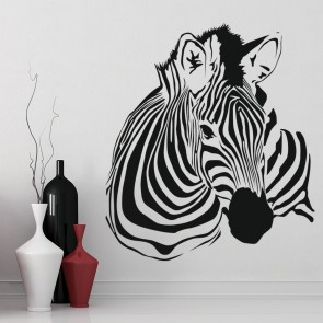 Zebra Portrait African Mammal Wild Animals Wall Stickers Home Decor Art  Decals Part 73