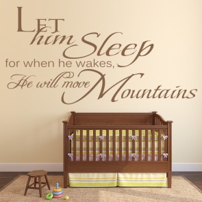 Let Him Sleep Boys Bedroom Religious Quotes Wall Stickers Home Decor Art  Decals Part 81