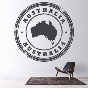 Australia Circular Badge Rest Of The World Wall Stickers Home Decor Art  Decals Part 90