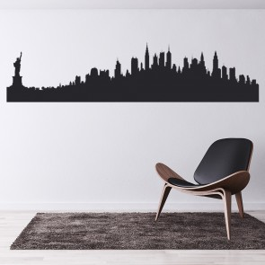 Wonderful New York Silhouette Skyline America USA Wall Sticker Living Room Home Art  Decals Part 31