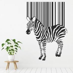 Barcode Zebra Wall Sticker African Animals Wall Decal Art Home Decor