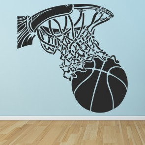 Basketball Hoop Wall Sticker American Sports Wall Decal Kids Bedroom Home  Decor