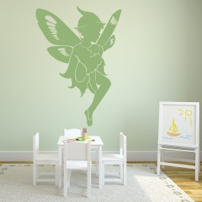 a3639c141d Fairy Sitting Fantasy Princess And Fairy Wall Stickers Bedroom Decor Art  Decals