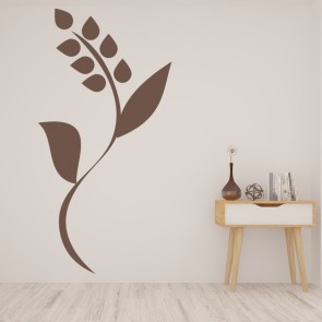 Simple Flower Wall Sticker Floral Stem Wall Decal Kitchen Living Room Home  Decor