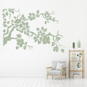 Flower Branch Wall Sticker Floral Tree Wall Decal Kitchen Corner Home Decor