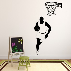 Basketball Wall Sticker Sport Games Wall Decal Kids Bedroom Home Decor