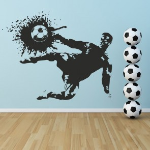 Amazing Football Striker Player Shoot Football Wall Stickers Sports Decor Art Decals Part 28