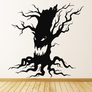 haunted tree scary growl halloween wall stickers seasonal home decor art decals
