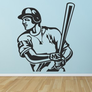 Baseball Batsman Wall Sticker Sports Games Decal Kids Bedroom Home Decor