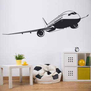 Passenger Plane Wall Sticker Commercial Airplane Wall Decal Boys Bedroom  Decor