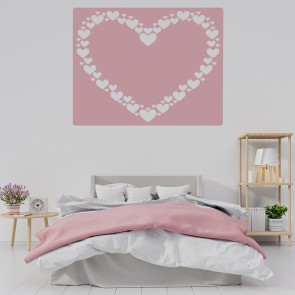 Charmant Heart Border Wall Sticker Square Love Heart Wall Decal Girls Room Home Decor
