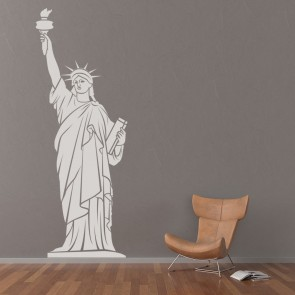 Statue Of Liberty NYC Shadowed America USA Wall Stickers Home Decor Art  Decals Part 97