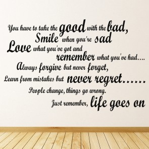 life inspirational wall stickers