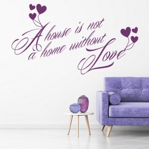 A House Is Not A Home Family Home Quotes Wall Stickers Home Decor Art Decals Part 55