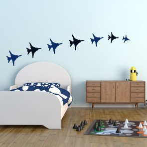 Fighter Jet Wall Sticker Pack Aircraft Plane Wall Decal Boys Bedroom Home  Decor