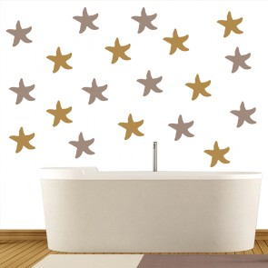 star fish under the sea creative multipack wall stickers bathroom home art decal