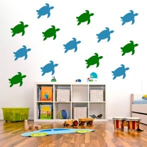 Turtle Under The Sea Creative Multipack Wall Stickers Bathroom Home Art  Decals Part 47